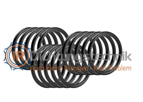 15 St. 1. Stufe Atemregler O-Ring Nullring Rundring 5,94 x 3,53 mm BS202 NBR 70 Shore A schwarz