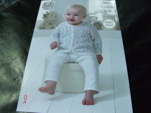 King Cole Double Knitting Pattern 4896 Baby Set 14-22 in Patterns