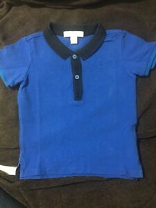 10996d0a Image is loading BURBERRY-Boys-Authentic-Blue-Polo-Shirt-Size-2Y