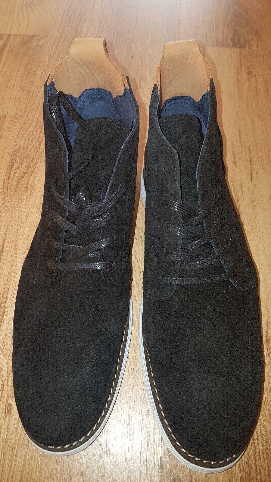 Shoot Herren Stiefel Suede Dark Schwarz Braun Schuhe Stiefel Schwarz Dark in Größe 45 neu 4eb2bf