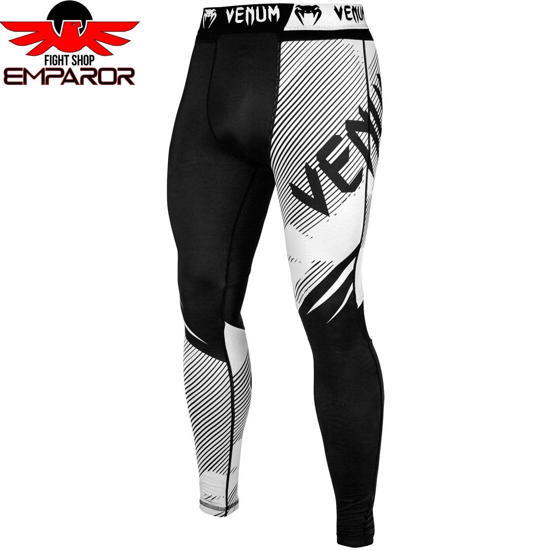 Venum Compression Spats NoGi 2.0 Schwarz Weiß MMA Grappling Grappling Grappling Spats Legging Herren de79e5
