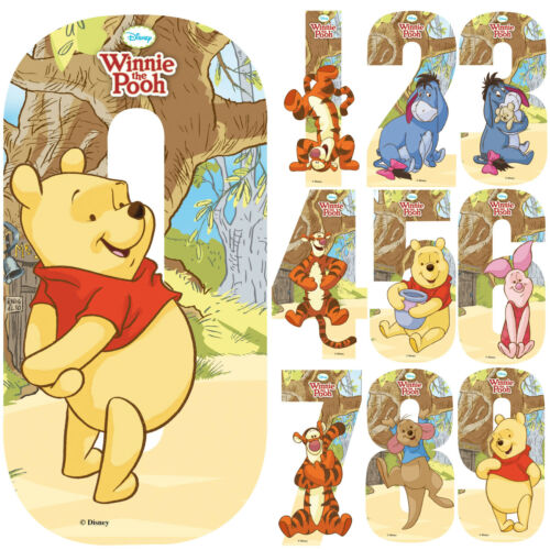Disney Winnie the Pooh Number Stickers Wall Wheely Wheelie Bin Baby Decal Toys