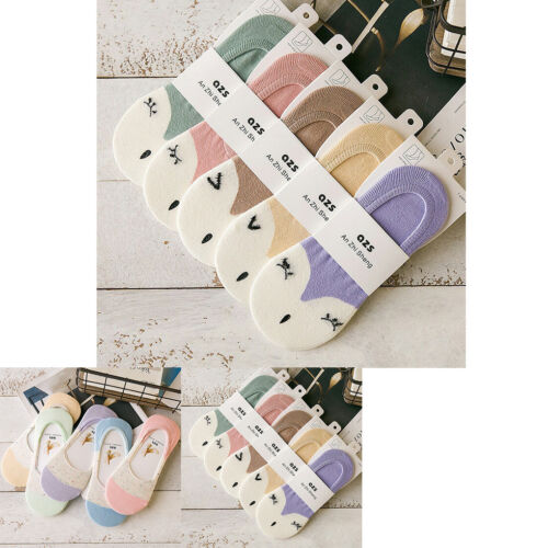 Women Cute Liner Socks Non-slip Invisible No Show Boat Foot Cotton Low Cut Sock