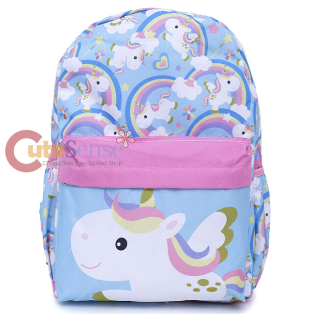 Kids Backpacks Licensed Unicorn Allover Print 16 Girls Large