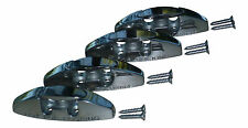 (4) 316s Stainless Steel Boat Fender Cleats