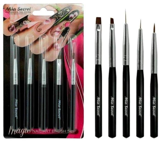 Mia Secret 5 Pcs Professional Nail Art Design Brush Set Nb5p Ebay