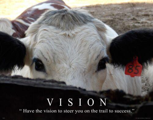 Cattle Cow Rancher Motivational Poster Art Rodeo Supplies Cowboy Farming MVP393