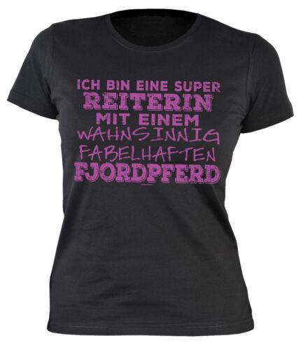 Shetty Haflinger Isländer Damen Pferde T-Shirt Fjord Pony Welsh