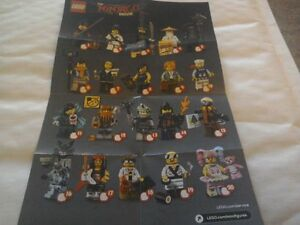 LEGO-Minifigures-Ninjago-il-film-MINI-FIGURES-71019-COMPLETO-FULL-SET-X20-NUOVO