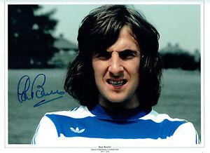 Stan Bowles firmato Autograph QUEENS PARK RANGERS legenda 16x12 FOTO AFTAL COA