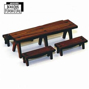 Details About 4GROUND   Fantasy, Dark Age Or Medieval Game: Trestle Table  X1 U0026 Benches X4 28mm