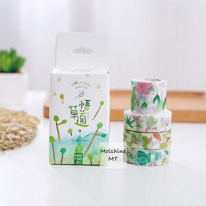 Molshine 4-in-1 Decorative Japanese Washi Masking Adhesive Craft Tape for DIY