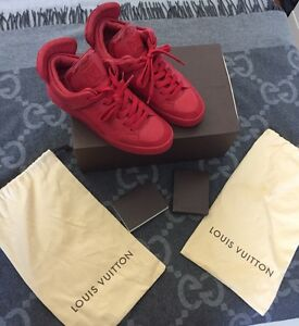 f5bfe4ec82083 100% AUTHENTIC LOUIS VUITTON DON X KANYE WEST RED LV 7 US 8.5 JASPER ...