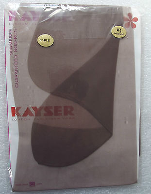 Kayser vintage stockings BRI-nylon Hosiery size 8 1/2 Seam-free Non-run SABLE