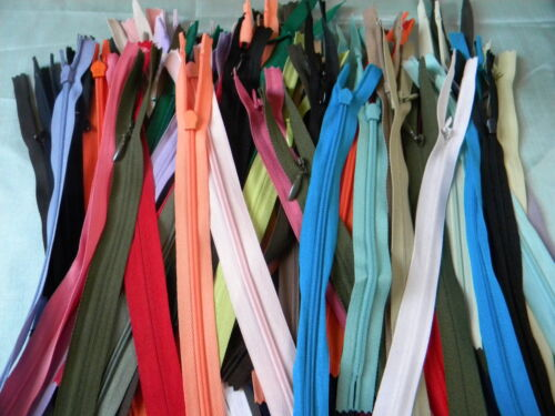 200 Invisible Zippers Assorted Color Ykk+Other style