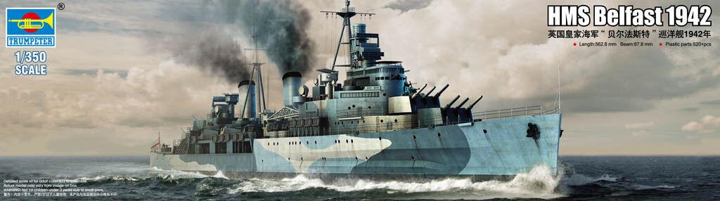 Trumpeter 1 350 05334 HMS Belfast 1942