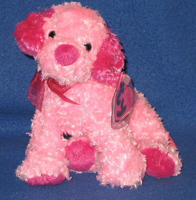 TY PINKYS BEANIE BABY PINKY POO the DOG MINT with MINT TAGS