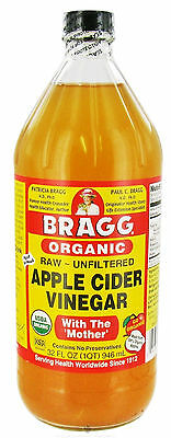 BRAGG ORGANIC APPLE CIDER VINEGAR  32 oz/ GLASS BOTTLES FRESH & SEALED