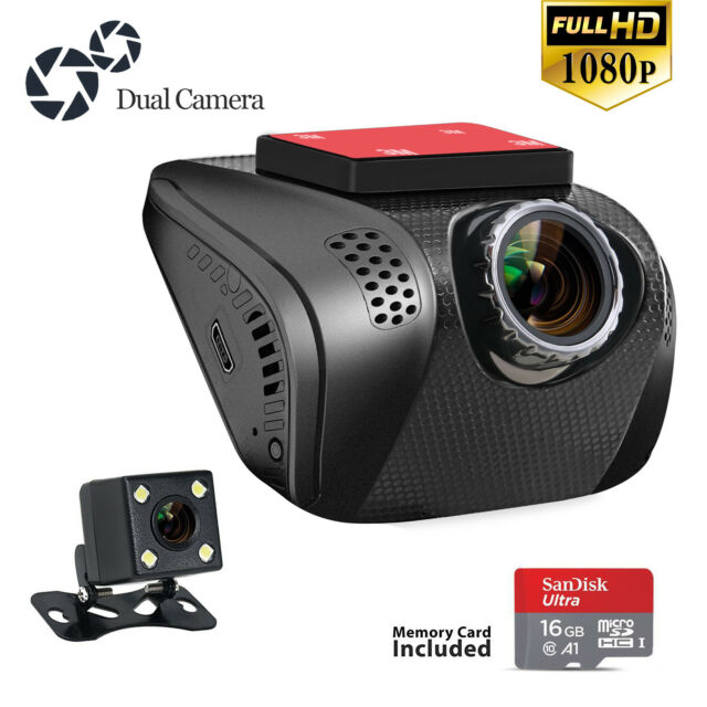 Acumen FHD 1080p Dual Dash Cam, Dashboard Camera Recorder with Sony Exmor  Sensor