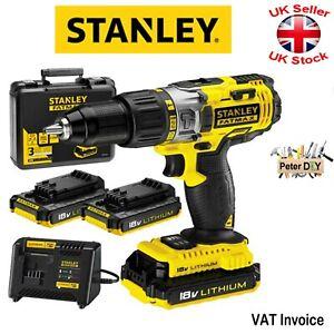 Details about Stanley FatMax FMC625D2-QW Cordless Hammer Drill 2x Battery  18V 2Ah