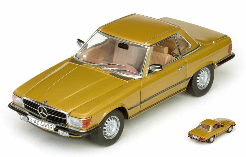 Mercedes 350 SL Hard Top Coupe' 1977 oro 1:18 Model 4609 SUN STAR