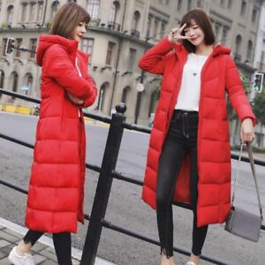 Womens-Ladies-Long-Winter-Coat-Padded-Quilted-Puffa-Jacket-Warm-Hooded-Plus-Size