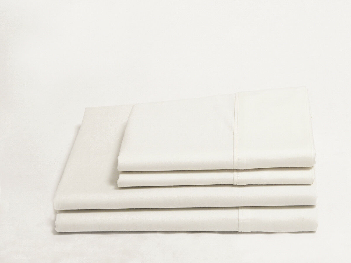 Organics and More Naturesoft Organic Cotton Sateen Sheet Sets - Full - White