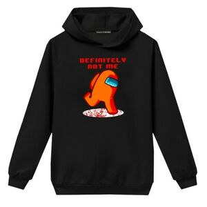 Kids Among Us Imposter Gamer Funny Hoodie Sweatshirt Long Sleeve Pullover