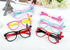 New Cute Children Girls Korean Kawaii Glasses Bow Rabbit Decor Eyeglasses U114