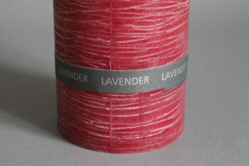 Lavendel Duft /& Rustic Stumpen Kerze handgefertigt durchgefärbt in 4 Größen