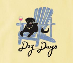 b1279ddb2253e4 Life is Good Women's Crusher Vee -Adirondack Dog on Happy Yellow ...