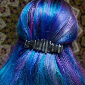 Black-Wired-Aura-Quartz-Raw-Stone-Crystal-Hair-Pin-Accessories-wedding-gift
