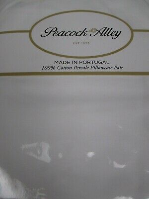 Peacock Alley Portugal 300TC Cotton Sateen Pillowcases Pair Gray Grey Standard