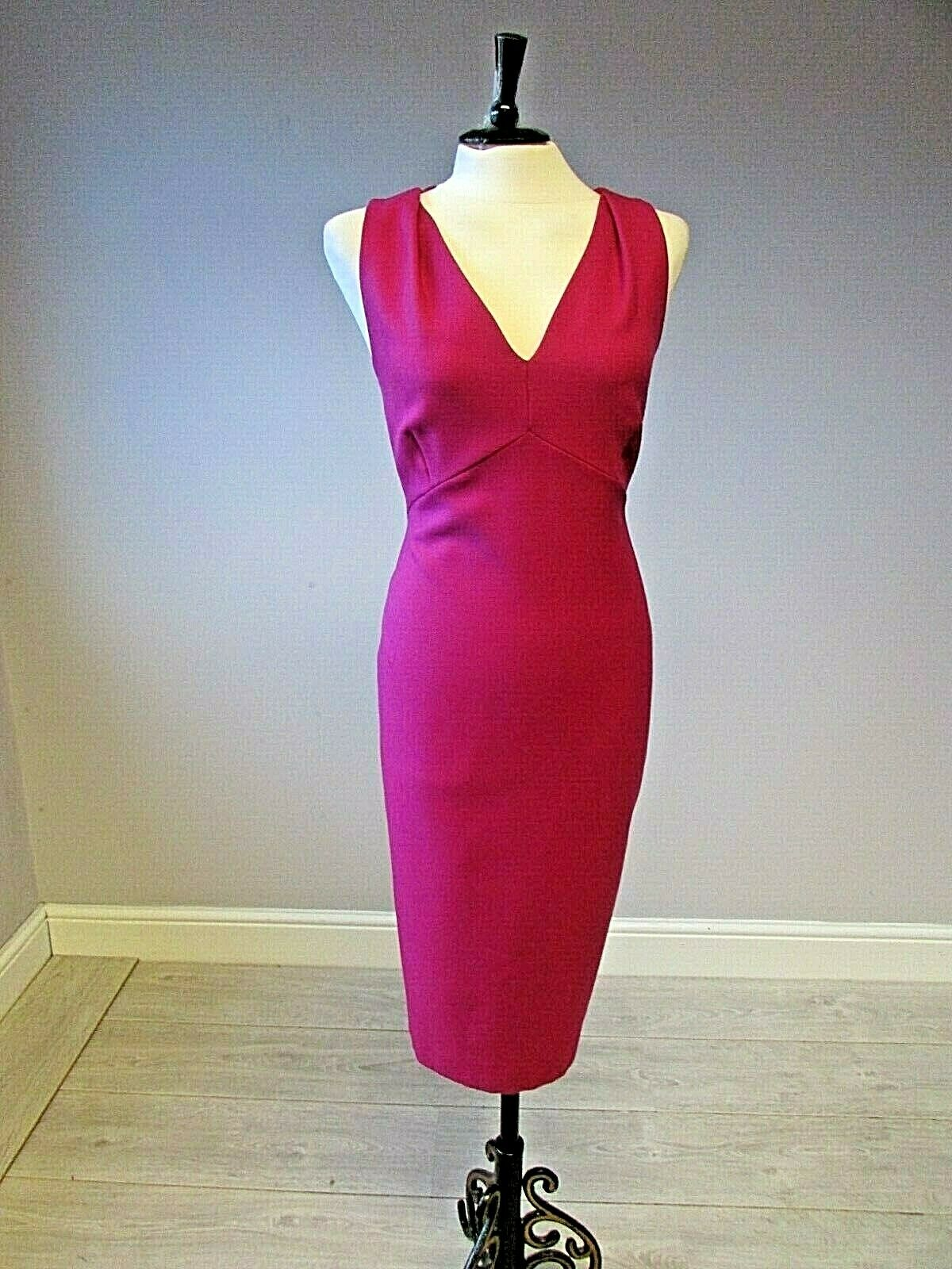 LK Bennett Fitted  Pencil Dress Pink  Size 14 Lined