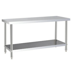 Stainless-Steel-Commercial-Catering-Table-Work-Bench-Kitchen-Food-Prep-Shelve-UK