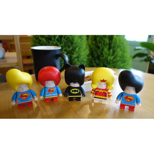 """KUNTOY Buster Cube Art Figure DC Comics Super Heroes Special Edition 3"""" (4Types)"""
