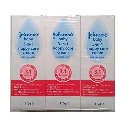 Johnsons Baby 3 in 1 Nappy Care Cream with Zinc Oxide 110gm