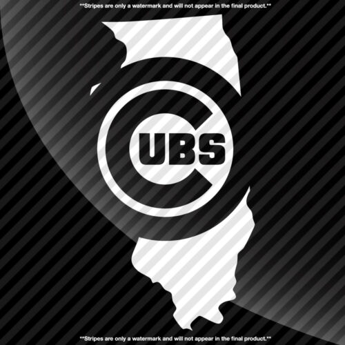 Chicago Cubs Illinois IL State Pride Decal Sticker TONS OF OPTIONS