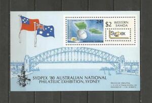 SAMOA-1980-National-Stamp-Exhibition-034-SYDPEX-039-80-034-MUH-MINIATURE-SHEET