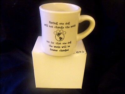 MUG - SAVE AND CHANGE THE WORLD FOR A DOG - 10 OZ. - M WARE - NEW IN BOX