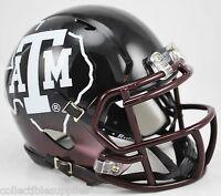 Texas A&m Aggies Alternate Black 2012 Ncaa Revolution Speed Mini Football Helmet