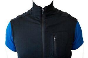 Icebreaker Gt Large Black Merino Wool Vest 340 Thread Weight Ebay