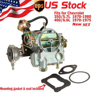 new carburetor carb for chevrolet chevy 2 barrel 350 5 7l. Black Bedroom Furniture Sets. Home Design Ideas