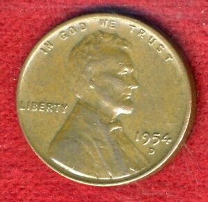 1954-D-Lincoln-Wheat-Ears-Reverse-Small-Cent-034-FULL-LINES-034-LWP2K