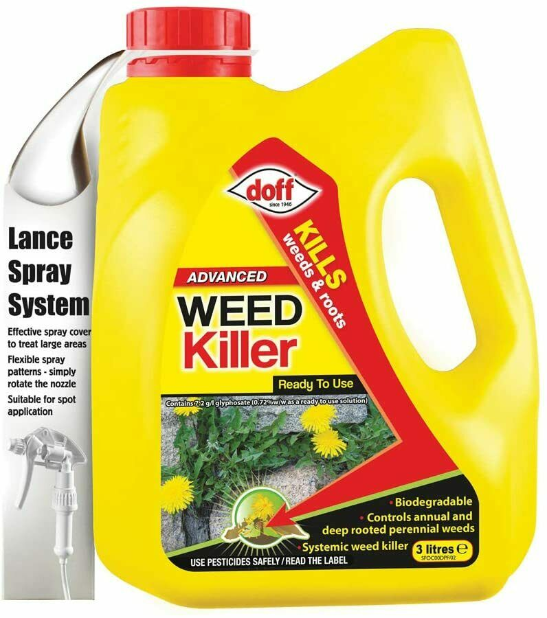 2 x DOFF Advanced Weedkiller RTU 3 litre Weed Killer Kills the root Ready To Use