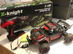 x knight 1 18 einsteiger modellauto elektro ferngesteuertes auto 20 km h ebay. Black Bedroom Furniture Sets. Home Design Ideas