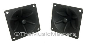 Pair-3-25-034-inch-Flush-Mount-Square-Super-Horn-Tweeter-Speakers-Car-Home-Audio