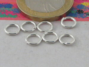 6-ANELLINI-ARGENTO-925-STERLING-SALDATI-mm-4-made-in-Italy