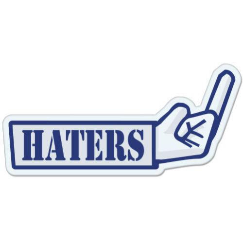 "F Haters Finger car bumper sticker decal 6/"" x 3/"""