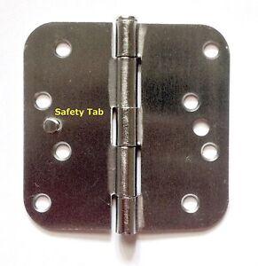 """4"""" SATIN NICKEL exterior door hinges 5/8"""" radius - Everything Doors"""
